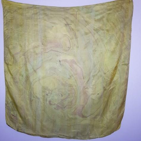 Indiai kendő-selyem festés
